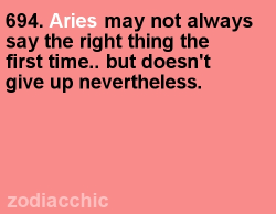 There's a whole lot of revealing aries-themed intuition over at iFate: