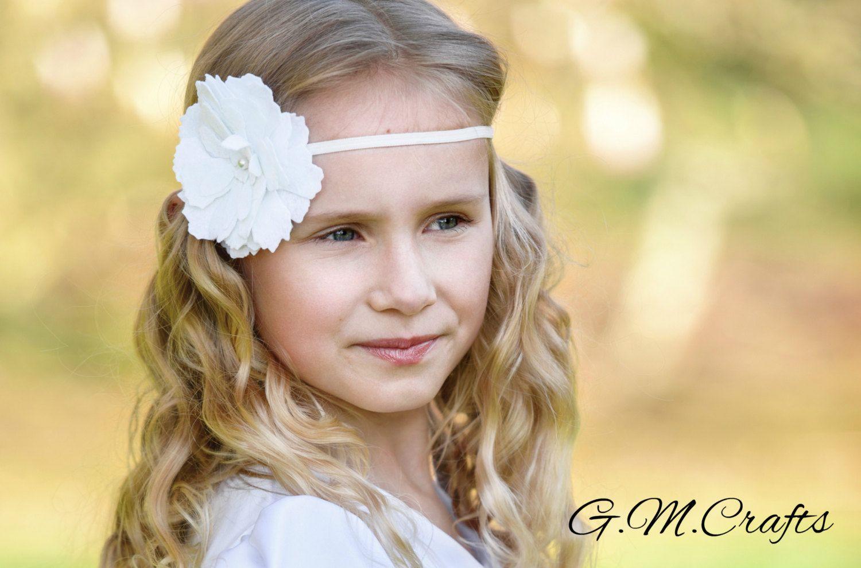 Felt Flower Crownfelt Flower Headband In Pinkflower Girl Hair