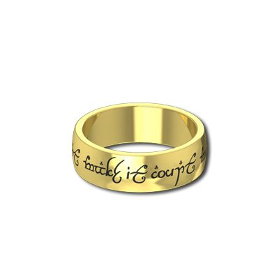 mens lord of the rings wedding bands in yellow gold Lord Of The