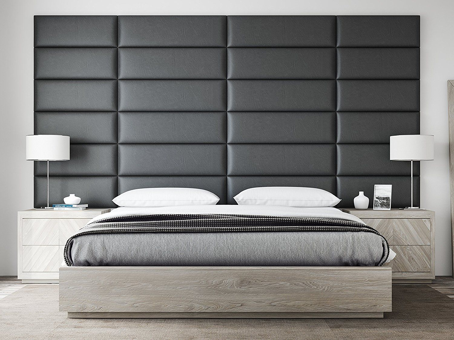 Revamping Your Headboard With Wall Panel Is A Simple Way To Add Pizzazz To The Bedroom Layout Upholstered Walls Upholstered Headboard Upholstered Wall Panels