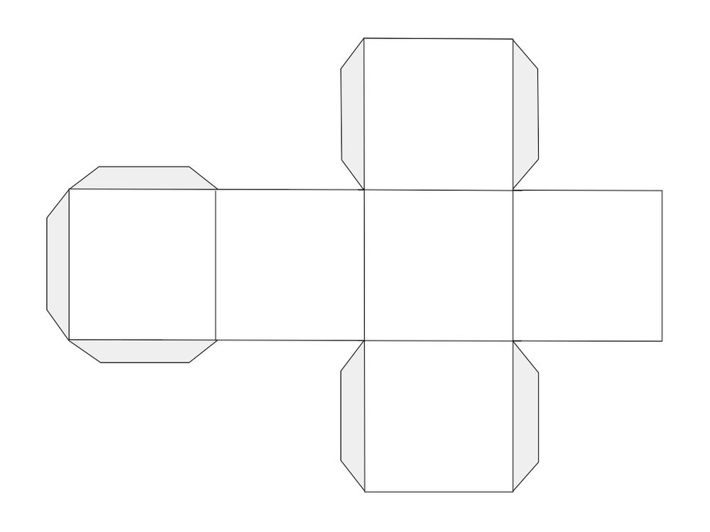 Free Printable Blank Dice Template
