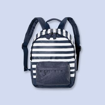 nouveau style ce8cd a6b81 Striped backpack NAVY/WHITE Boy - Boys and girls Clothes ...