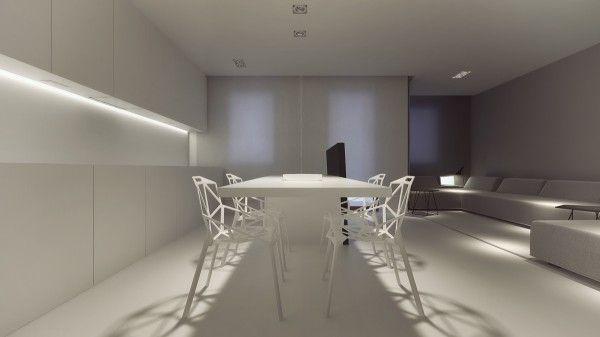 Stark sharp & minimalistic interiors by oporski architektura