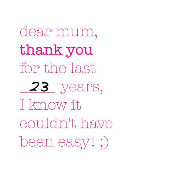Dear mum mother's day card by helloclacky on Etsy, £2.00