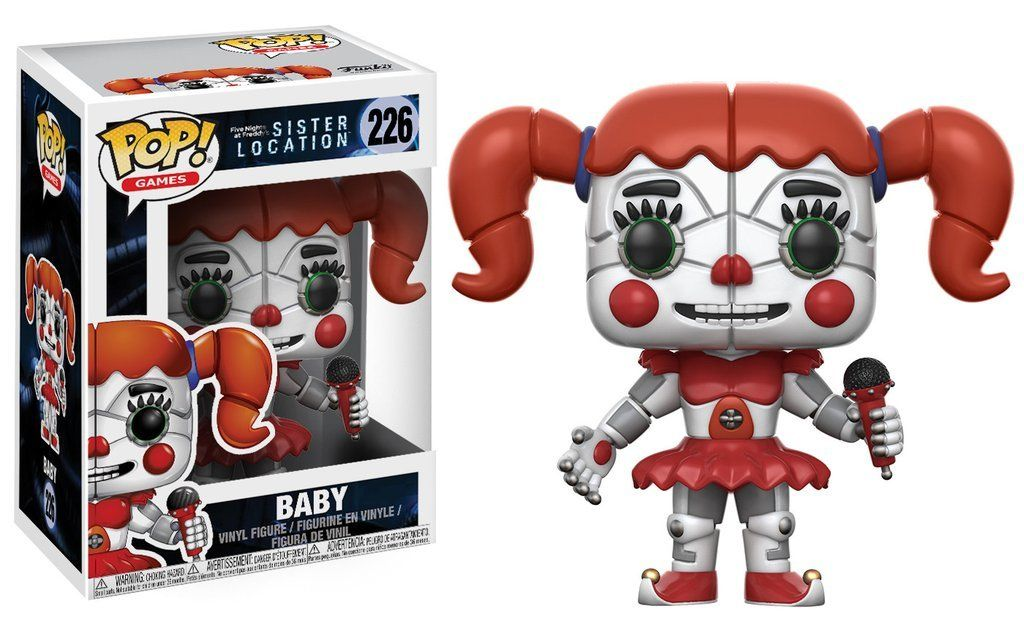 Funtime Freddy 13730 Five Nights at Freddy/'s Sister Location Funko Pop Games