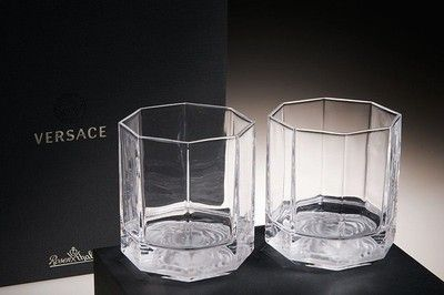 d4b7dee39ee VERSACE Medusa Lumiere Whisky Glasses Crystal