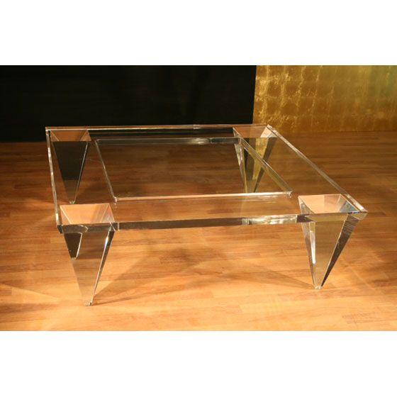 Transparents Et Miroirs Meubles Sur Mesure Hifigeny Table Basse Transparente Table Basse Verre Table Basse