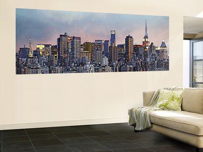 Hank Gans Manhattan Skyline New York City Wall Mural Manhattan