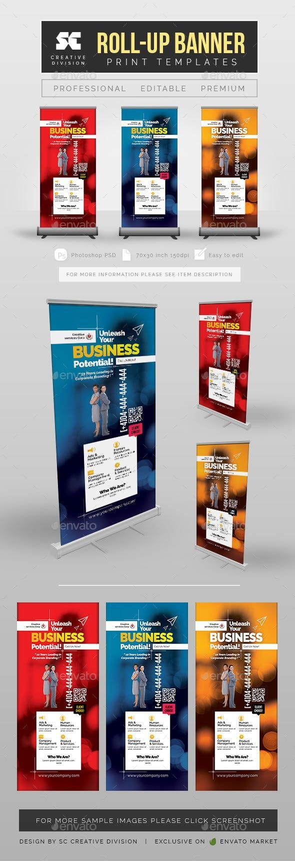 Roll Up Banner Template Best Of Business Roll Up Banner Signage Print Templates