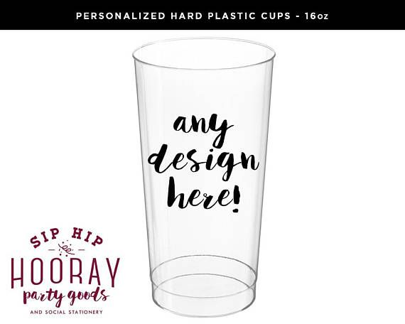Custom Cups Clear Plastic Cups 16oz Cups Plastic Cups Etsy Wedding Cups Custom Cups Wedding Plastic Cups