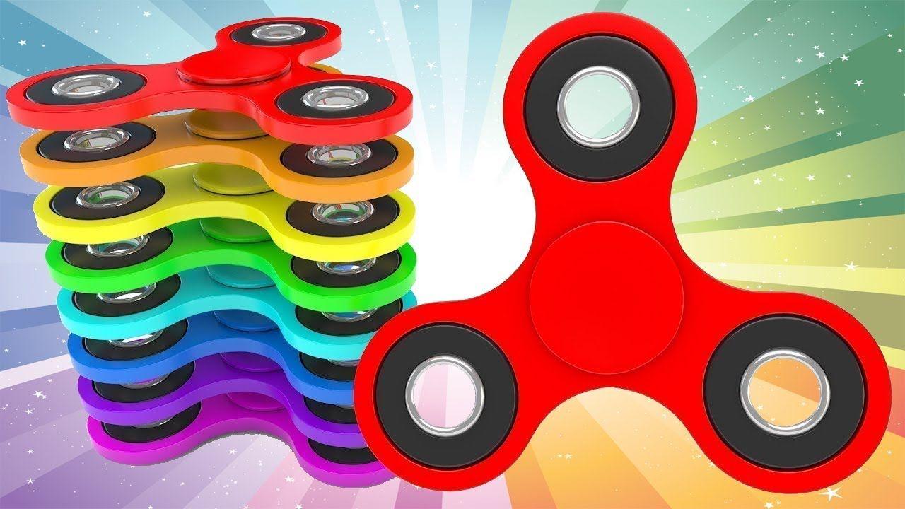 تعلم الألوان مع قوس قزح تململ الدوار للأطفال الألوان ألعاب الفيديو للأطف