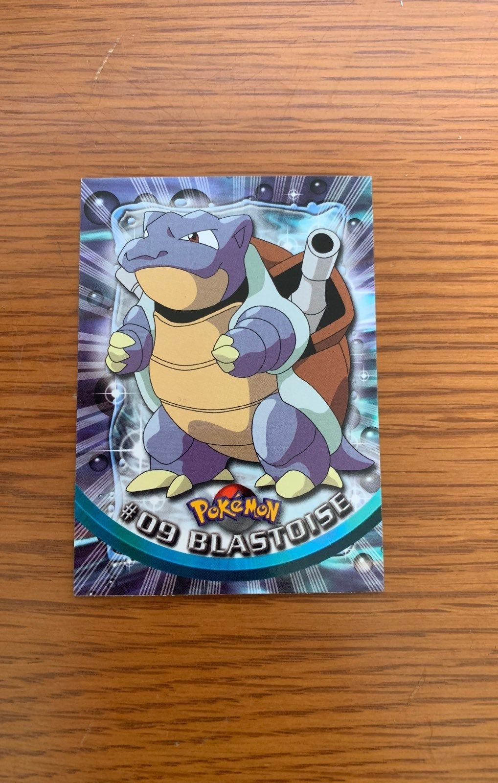Blastoise topps card no creases or bends really good