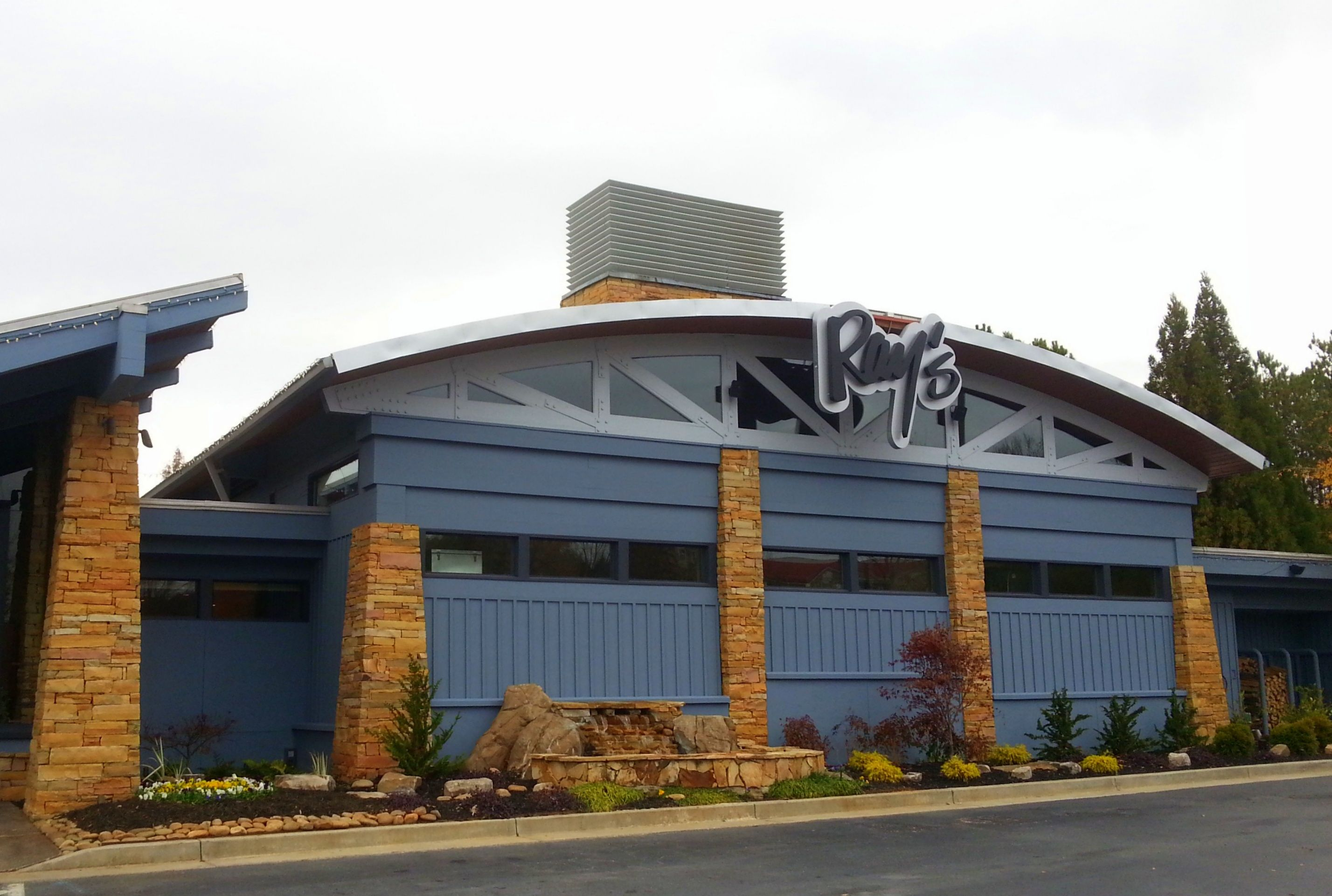 The newly redesigned exterior at Ray's on the Creek is inspired by the coast.