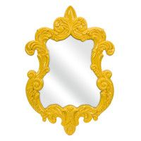 Finely Baroque Yellow Wall Mirror