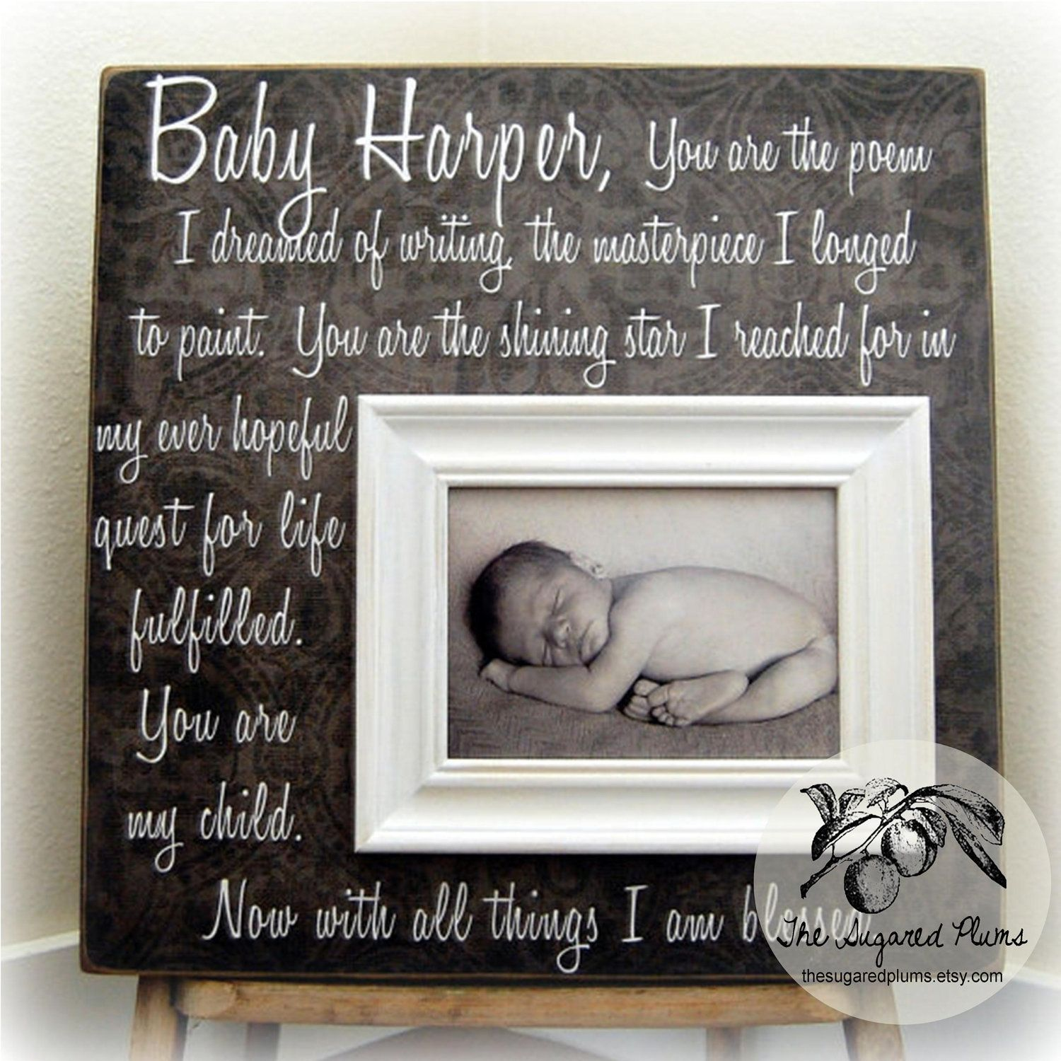 Baptism Gift Personalized Picture Frame Custom 16x16 You Are THE POEM Baby Shower Christening First Birthday Godparents New 7500 Via Etsy