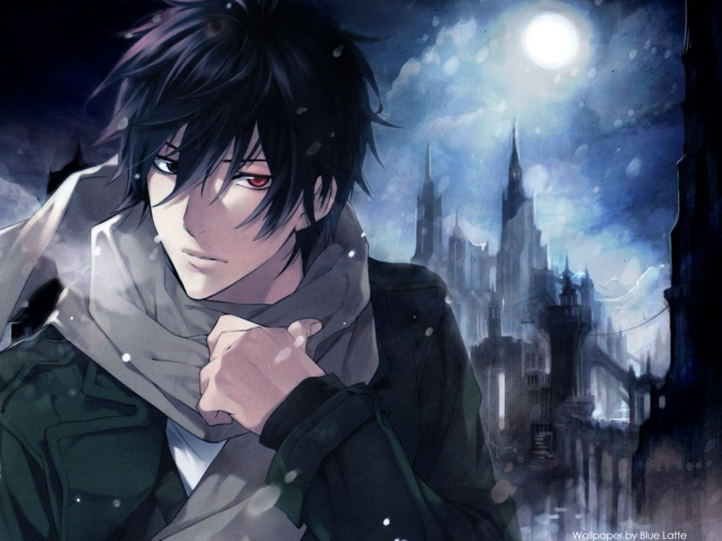 Anime Anime Guy Anime Boy Multicolored Eyes Black Hair Scarf Cute Dark Anime Yakumo Shinrei Tantei Yakumo