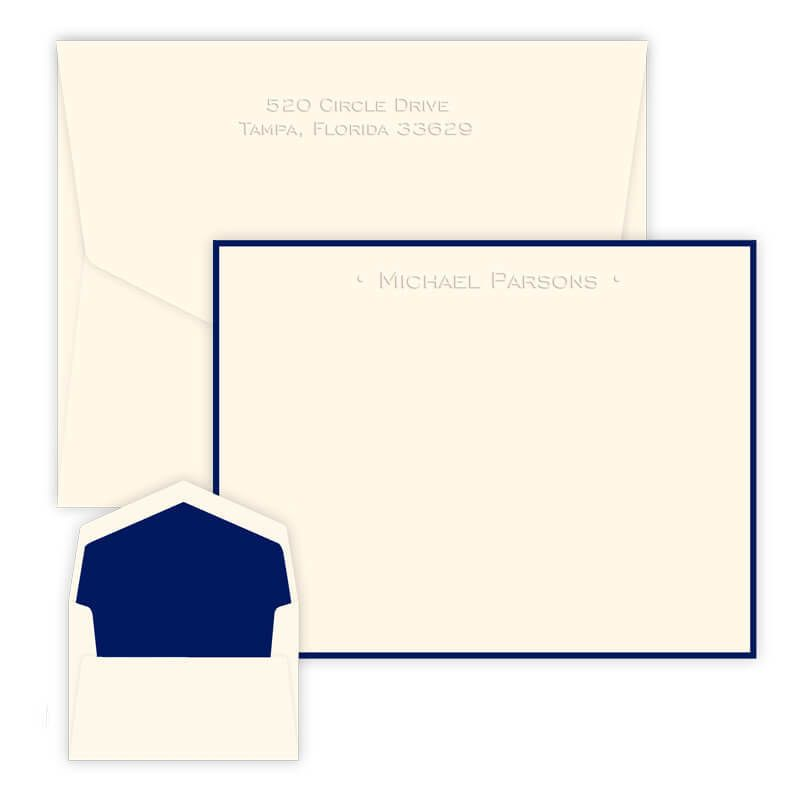 31 Personalized Embossed Cards Notes