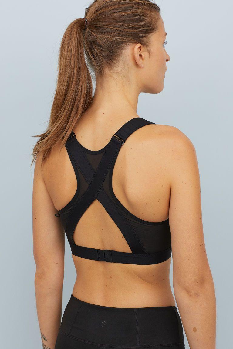 5f7b21a3916 Sports bra High support - Black - Ladies