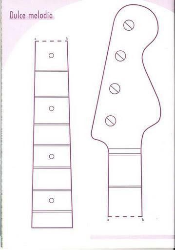 Cake Template Guitar Cupkery Fonts And Free Printables Cake