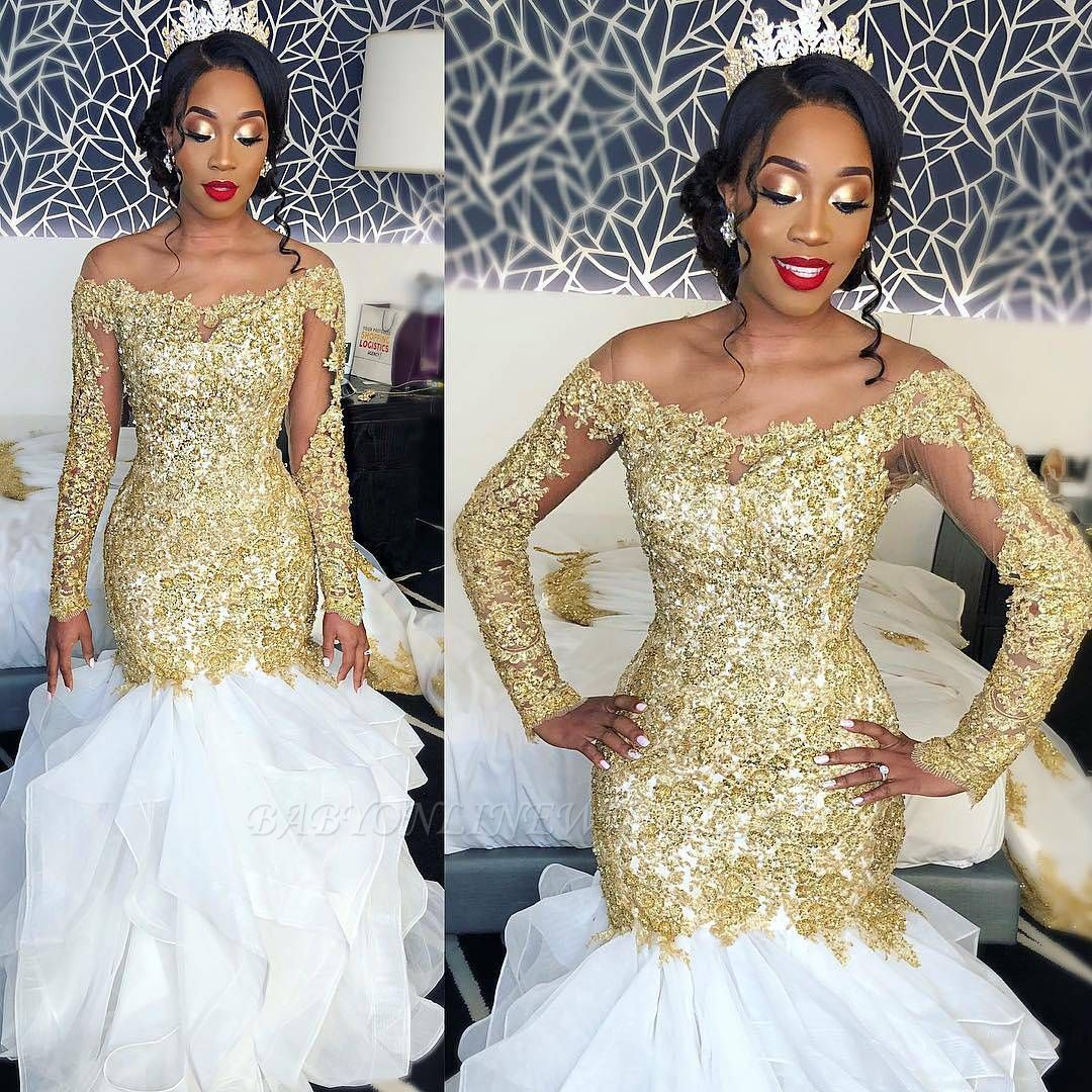 36+ White and gold african wedding dress info