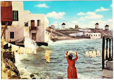 Saturday S Postcards The Greek Island Of Mykonos Mykonos Greek Islands Mykonos Greece