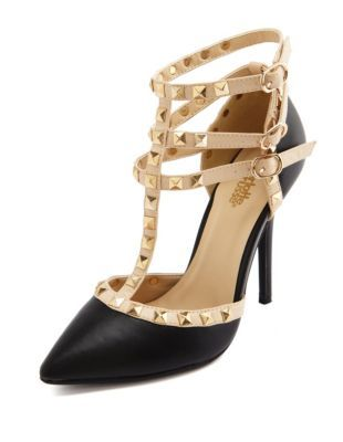 studded t-strap pointy toe pump WANT!!!