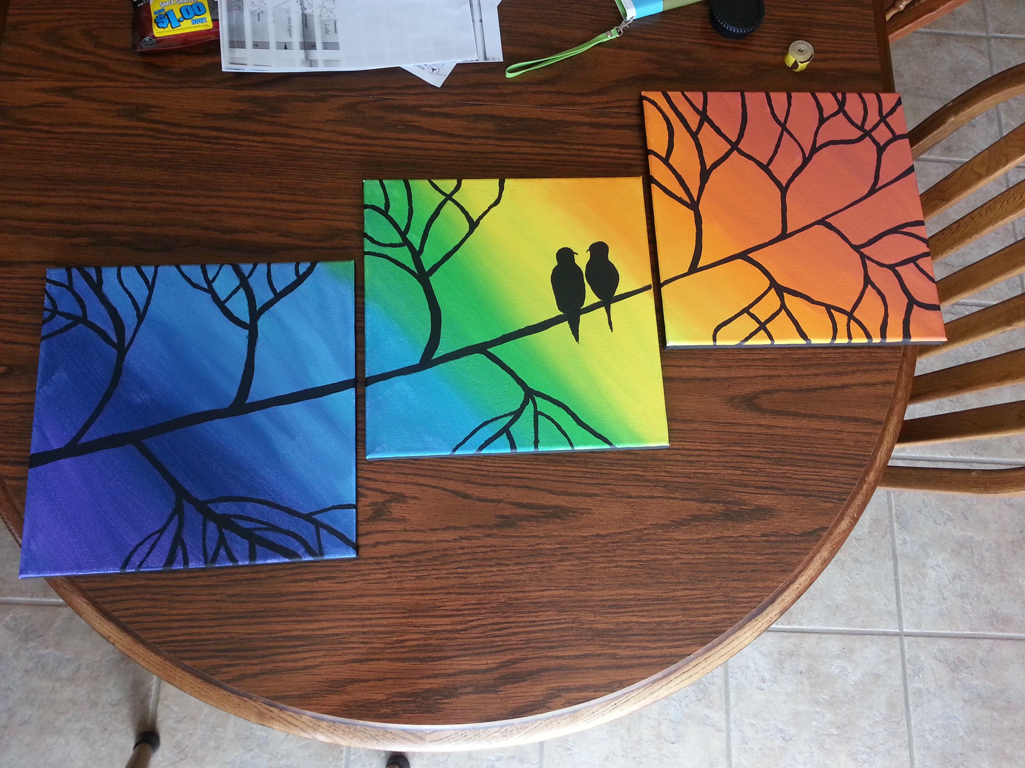 Diy Canvas Painting Diy Multi Panel Canvas Painting Diy Pinterest Diy Art And Craft