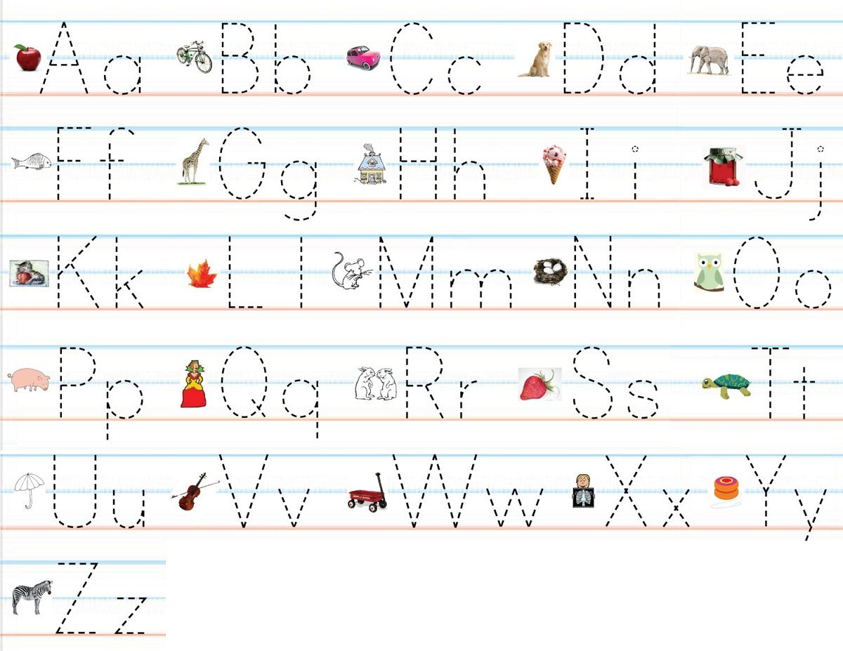 trace the letters for kids , Print some trace the letters ...