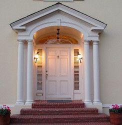 Portico Portico Portico Entry Cottage Front Doors