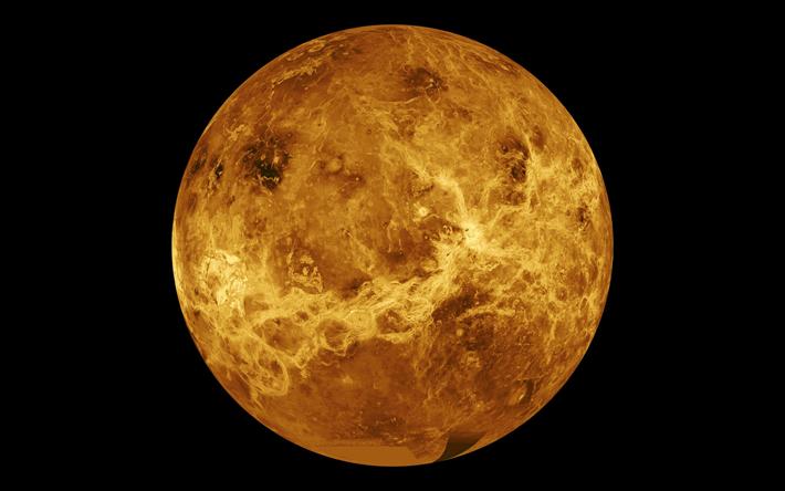 Download imagens Venus, laranja planeta, espaço aberto, Sistema Solar