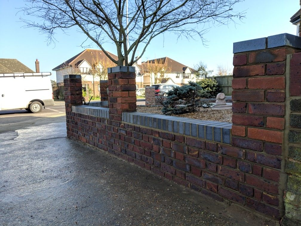 Brick walls completed down petits lane in romford by