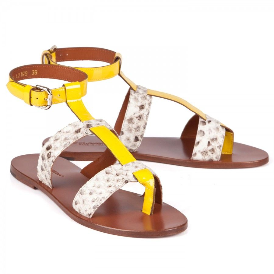 Bridal Shoes Harvey Nichols: Dolce Gabbana Python Sandals