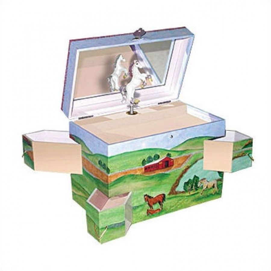 "Horse Jewelry Box Enchantmints Hide Away Horse 775"" High Treasure Box  B1027"