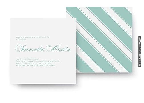 love mint striped invitations! | VIA #WEDDINGPINS.NET