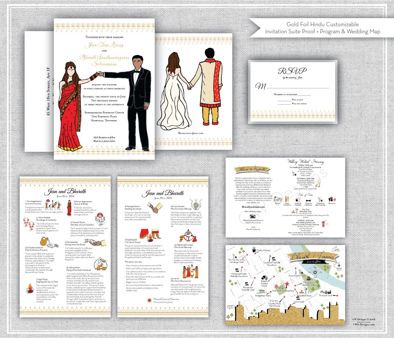 indian wedding invitation  completely customizable
