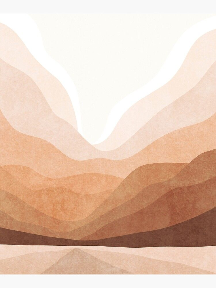 """Warm mountain landscape"" Mounted Print by Miss-Belle ..."