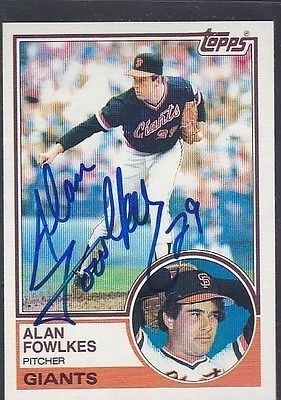 1983 #topps baseball autograph alan #fowlkes giants #*52622,  View more on the LINK: 	http://www.zeppy.io/product/gb/2/371564052859/