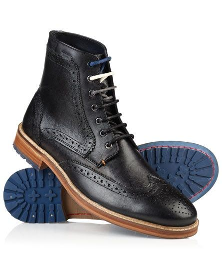 Superdry Shooter Leather Boots Black   Stuff to Buy   Best shoes for ... a24daf855983