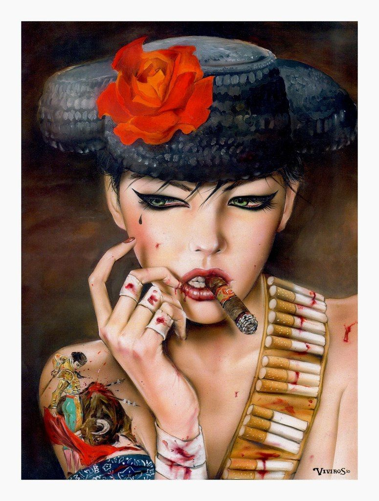 """""""Mata-Adore You Forever"""" by Brian M. Viveros #modern #portraiture #painting #art"""