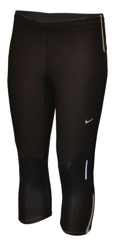 54713ccd3704c7 Nike Womens Dri Fit Work Out Training Running Tight Capri Pants Black Large  | eBay