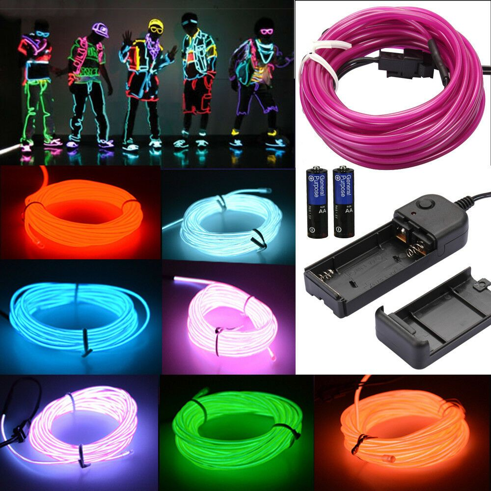 Controller Neon LED Light Glow EL Wire String Strip Rope Tube Car Dance Party