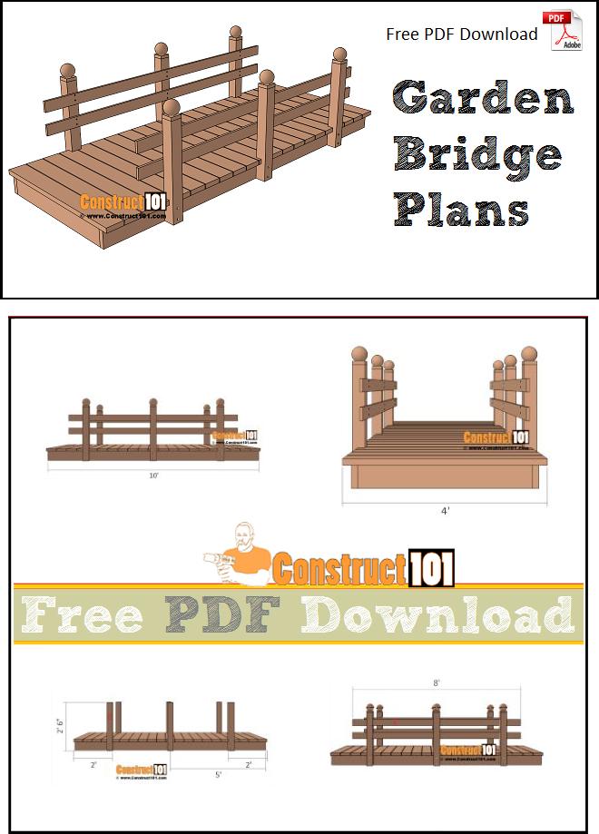 Flat Garden Bridge Plans Pdf, Garden Bridges Plans