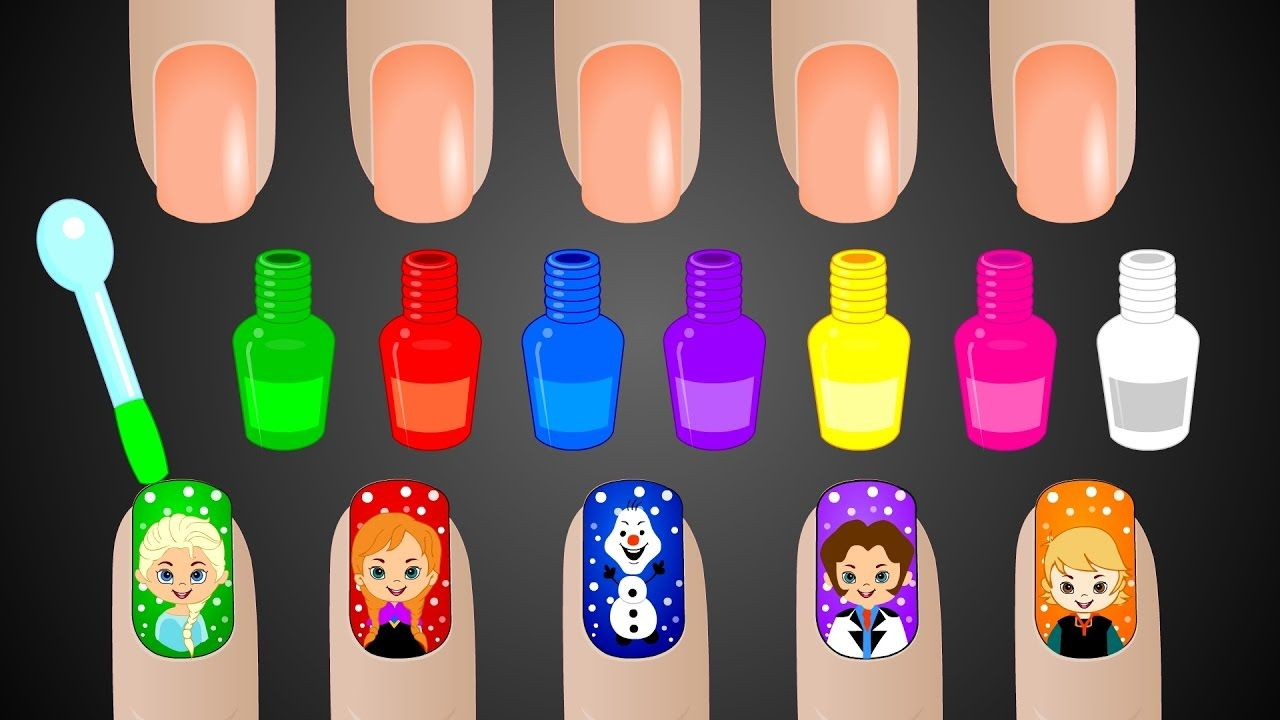 Learn Colors with Surprise Nail Art Designs | Colours to Kids ...
