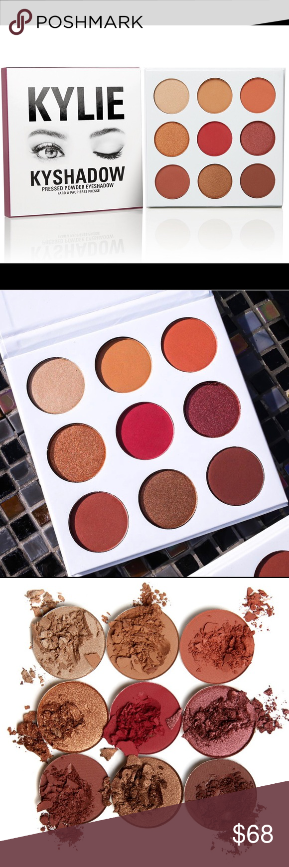 KYLIE JENNER KYSHADOW THE BURGUNDY PALETTE 🍁 The new sold out Kylie Jenner Kyshadow Burgundy Palette.  This eyeshadow is COMPLETELY sold out in stores.  Brand new, unopened, and in perfect condition!  Don't be shy about making offers.  Feel free to comment with any questions ❤️❤️ Kylie Cosmetics Makeup Eyeshadow
