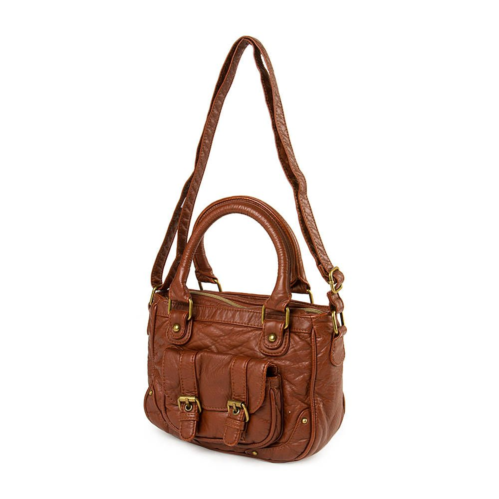 A cute leather bag! Faux Leather Crossbody Satchel Bag | Claire's ...