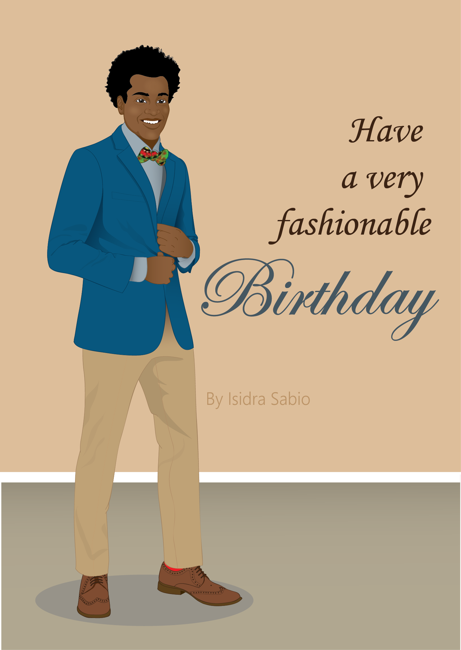 Available Now This Afrocentric Birthday Card For Men Shows A Very