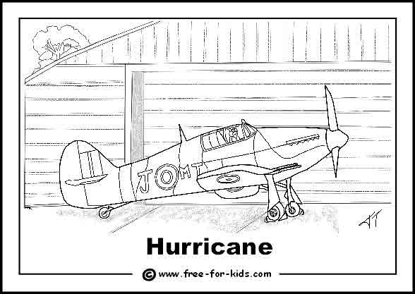 WW2 plane coloring pages Homeschool