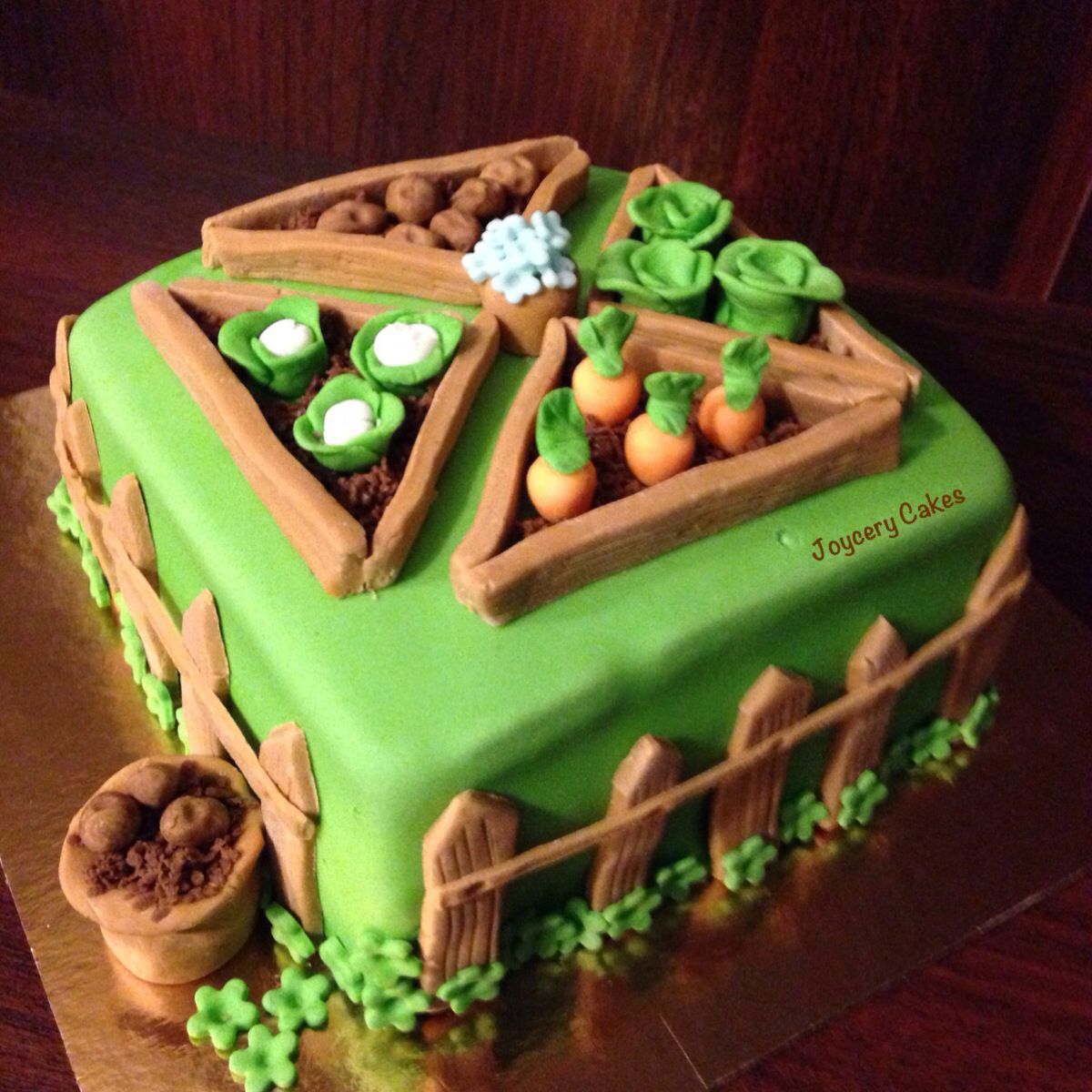 Vegetable garden Cake | Vegetable garden cake, Fairy cakes ...