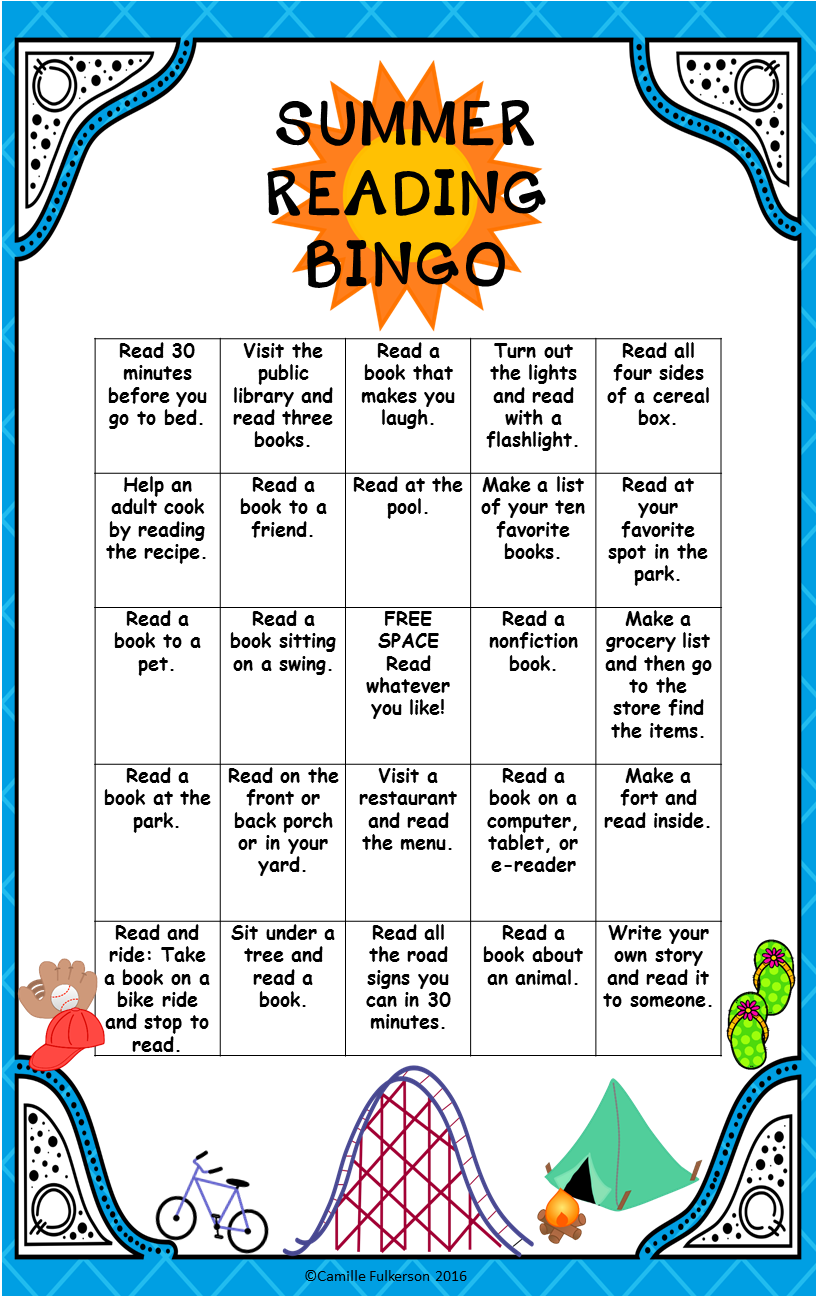 Summer Reading Bingo | TpT FREE LESSONS | Reading bingo ...
