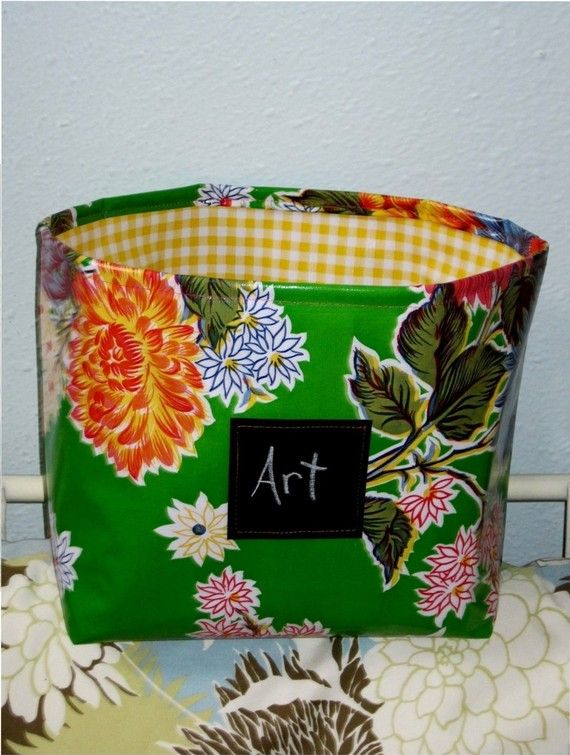 Large Comfy Fabric Storage Bin,Oilcloth | Pinterest